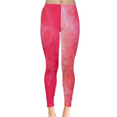 Abstract Red And Gold Ink Blot Gradient Leggings  by Nexatart
