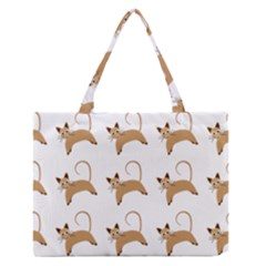 Cute Cats Seamless Wallpaper Background Pattern Medium Zipper Tote Bag by Nexatart