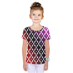 Flowers Digital Pattern Summer Woods Art Shapes Kids  One Piece Tee by Nexatart