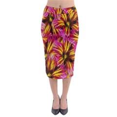 Floral Pattern Background Seamless Midi Pencil Skirt by Nexatart