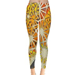 Abstract Starburst Background Wallpaper Of Metal Starburst Decoration With Orange And Yellow Back Leggings  by Nexatart