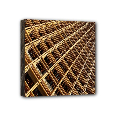 Construction Site Rusty Frames Making A Construction Site Abstract Mini Canvas 4  X 4  by Nexatart