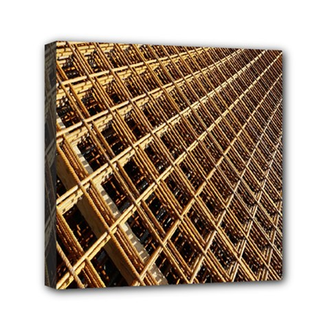 Construction Site Rusty Frames Making A Construction Site Abstract Mini Canvas 6  X 6  by Nexatart