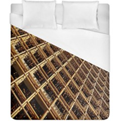 Construction Site Rusty Frames Making A Construction Site Abstract Duvet Cover (california King Size) by Nexatart
