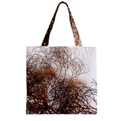 Digitally Painted Colourful Winter Branches Illustration Zipper Grocery Tote Bag by Nexatart