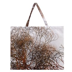 Digitally Painted Colourful Winter Branches Illustration Zipper Large Tote Bag by Nexatart