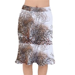 Digitally Painted Colourful Winter Branches Illustration Mermaid Skirt by Nexatart