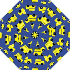 A Fun Cartoon Taxi Cab Tiling Pattern Hook Handle Umbrellas (Small) by Nexatart