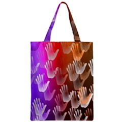 Clipart Hands Background Pattern Classic Tote Bag by Nexatart