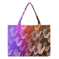 Clipart Hands Background Pattern Medium Tote Bag by Nexatart