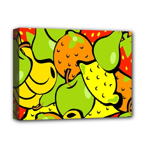 Digitally Created Funky Fruit Wallpaper Deluxe Canvas 16  X 12   by Nexatart