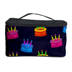 A Tilable Birthday Cake Party Background Cosmetic Storage Case by Nexatart