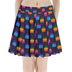A Tilable Birthday Cake Party Background Pleated Mini Skirt by Nexatart