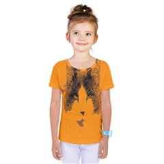 Cat Graphic Art Kids  One Piece Tee by Nexatart
