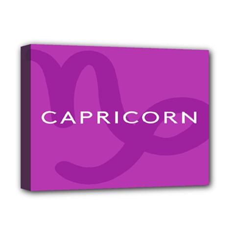 Zodiac Capricorn Purple Deluxe Canvas 16  X 12   by Mariart