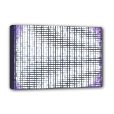 Purple Square Frame With Mosaic Pattern Deluxe Canvas 18  X 12   by Nexatart