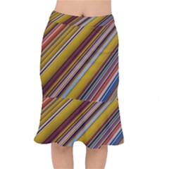 Colourful Lines Mermaid Skirt by Nexatart