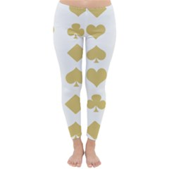 Card Symbols Classic Winter Leggings by Mariart