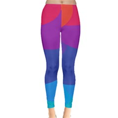 Circles Colorful Balloon Circle Purple Blue Red Orange Leggings  by Mariart