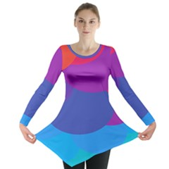 Circles Colorful Balloon Circle Purple Blue Red Orange Long Sleeve Tunic  by Mariart