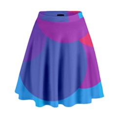 Circles Colorful Balloon Circle Purple Blue Red Orange High Waist Skirt by Mariart