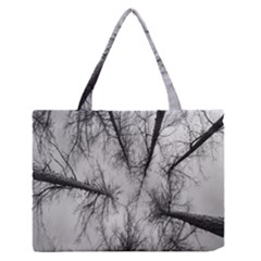 Trees Without Leaves Medium Zipper Tote Bag by Nexatart