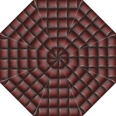 Red Cell Leather Retro Car Seat Textures Straight Umbrellas by Nexatart