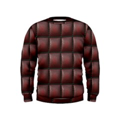 Red Cell Leather Retro Car Seat Textures Kids  Sweatshirt by Nexatart