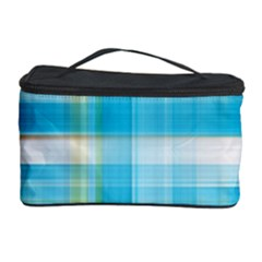 Lines Blue Stripes Cosmetic Storage Case by Mariart