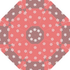 Seed Life Seamless Remix Flower Floral Red White Hook Handle Umbrellas (large) by Mariart