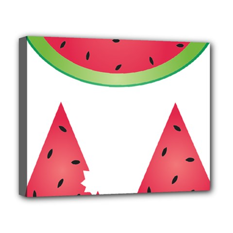 Watermelon Slice Red Green Fruite Deluxe Canvas 20  X 16   by Mariart