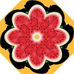 Watermelon Slice Red Orange Green Black Fruite Time Golf Umbrellas by Mariart
