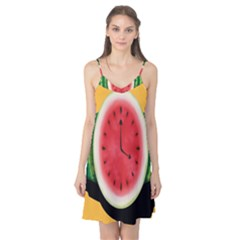 Watermelon Slice Red Orange Green Black Fruite Time Camis Nightgown by Mariart