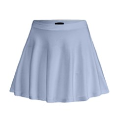 Solid Alice Blue in an English Country Garden Wedding Mini Flare Skirt by PodArtist