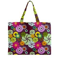 Floral Seamless Pattern Vector Zipper Mini Tote Bag by Nexatart