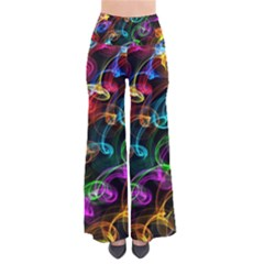 Rainbow Ribbon Swirls Digitally Created Colourful Pants by Nexatart