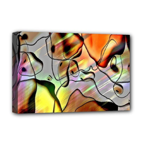 Abstract Pattern Texture Deluxe Canvas 18  X 12   by Nexatart