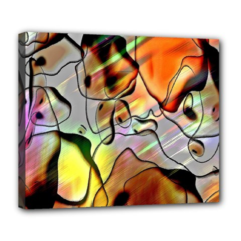 Abstract Pattern Texture Deluxe Canvas 24  X 20   by Nexatart