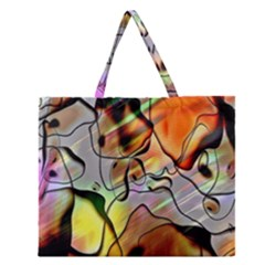 Abstract Pattern Texture Zipper Large Tote Bag by Nexatart