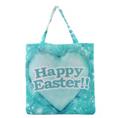 Happy Easter Theme Graphic Grocery Tote Bag by dflcprints