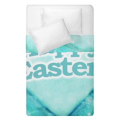 Happy Easter Theme Graphic Duvet Cover Double Side (single Size) by dflcprints