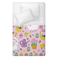 Cute Easter Pattern Duvet Cover (single Size) by Valentinaart