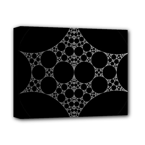 Drawing Of A White Spindle On Black Deluxe Canvas 14  X 11  by Nexatart