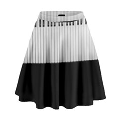 Piano Keys On The Black Background High Waist Skirt by Nexatart
