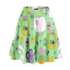 Cute Easter Pattern High Waist Skirt by Valentinaart