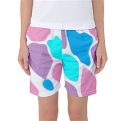Baby Pink Girl Party Pattern Colorful Background Art Digital Women s Basketball Shorts