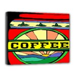 Coffee Tin A Classic Illustration Canvas 14  x 11