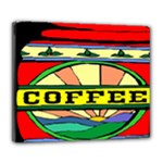 Coffee Tin A Classic Illustration Deluxe Canvas 24  x 20