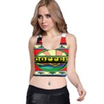 Coffee Tin A Classic Illustration Racer Back Crop Top