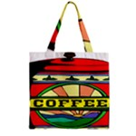 Coffee Tin A Classic Illustration Zipper Grocery Tote Bag